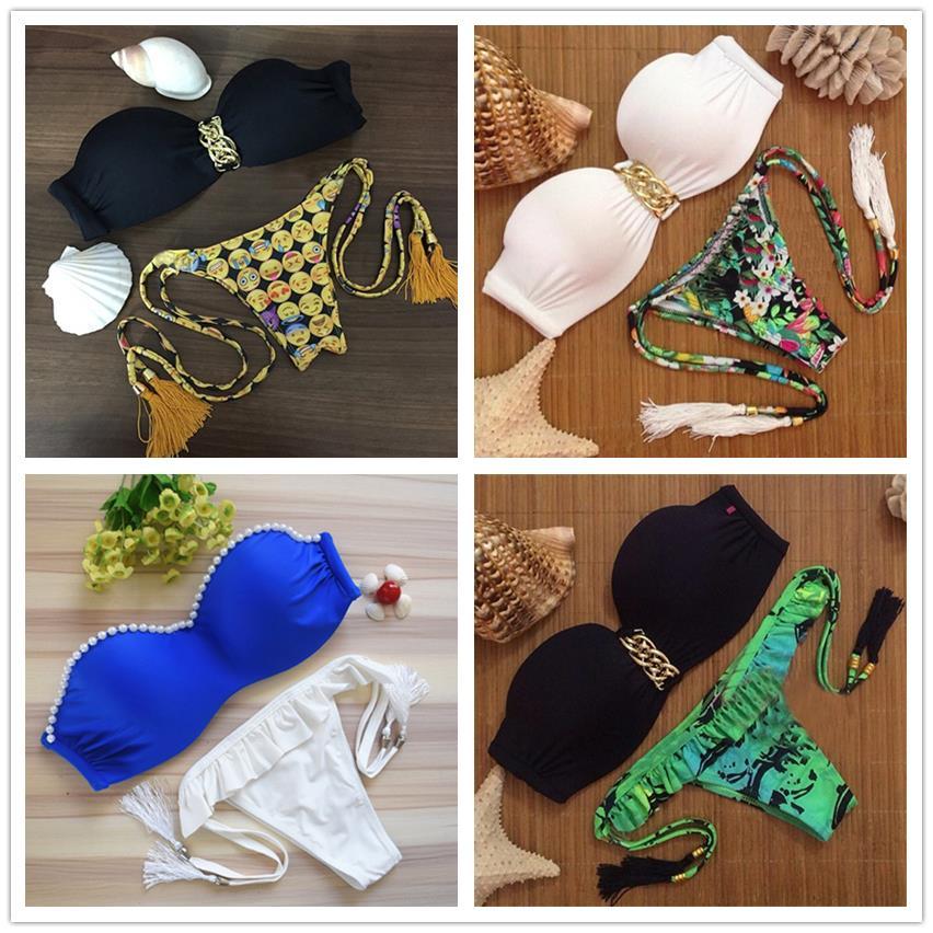 98eaca37c مثير رفع بيكيني مجموعة جناح froal ضمادة ملابس السباحة مبطن البرازيلي  البرازيلي الشاطئ biquini 2015 جديد SJ15285-mix1