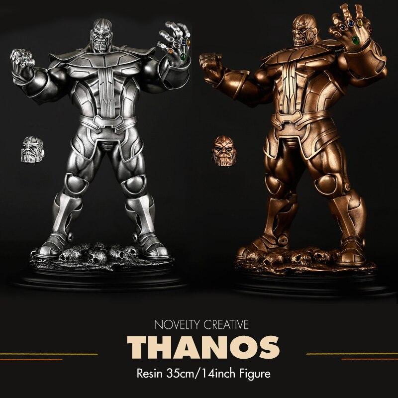 Pandadomik Thanos Large Size 35cm Resin 14inch Toy Figure Model Avengers Action Toy Figures infinity war Man Boys Marvel Toys