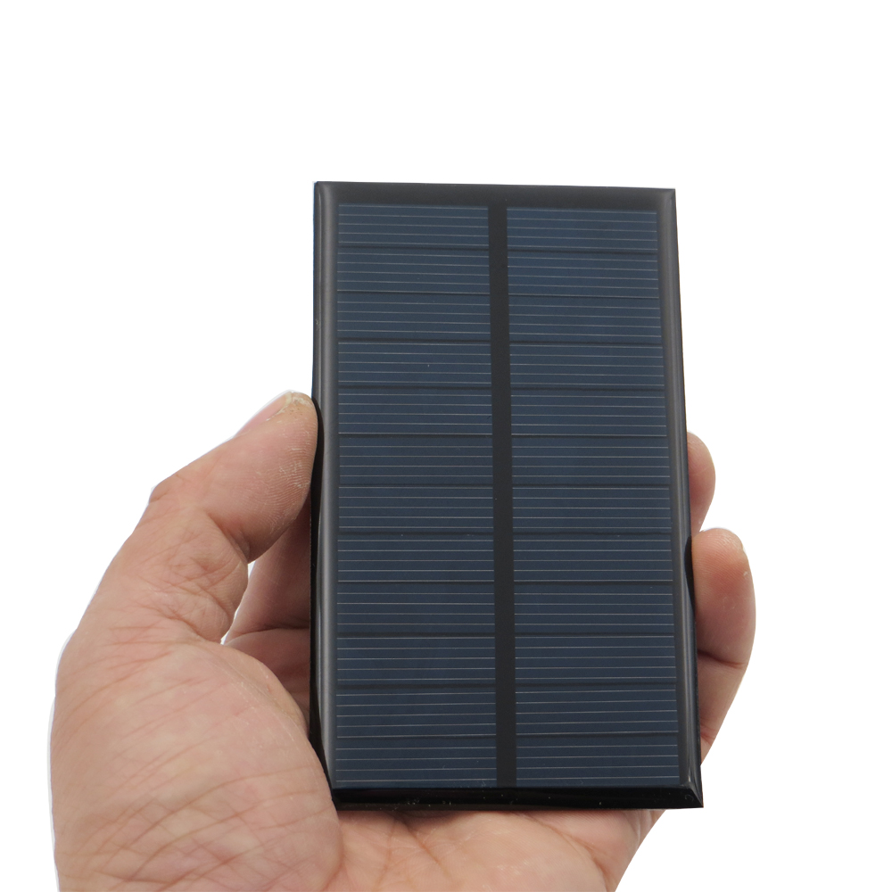 DIY Mini <font><b>Solar</b></font> cell <font><b>6V</b></font> <font><b>1W</b></font> Portable Module Batteries Power System For Battery Cell Phone Chargers Portable <font><b>Solar</b></font> Cell 1Watt 6VDC image