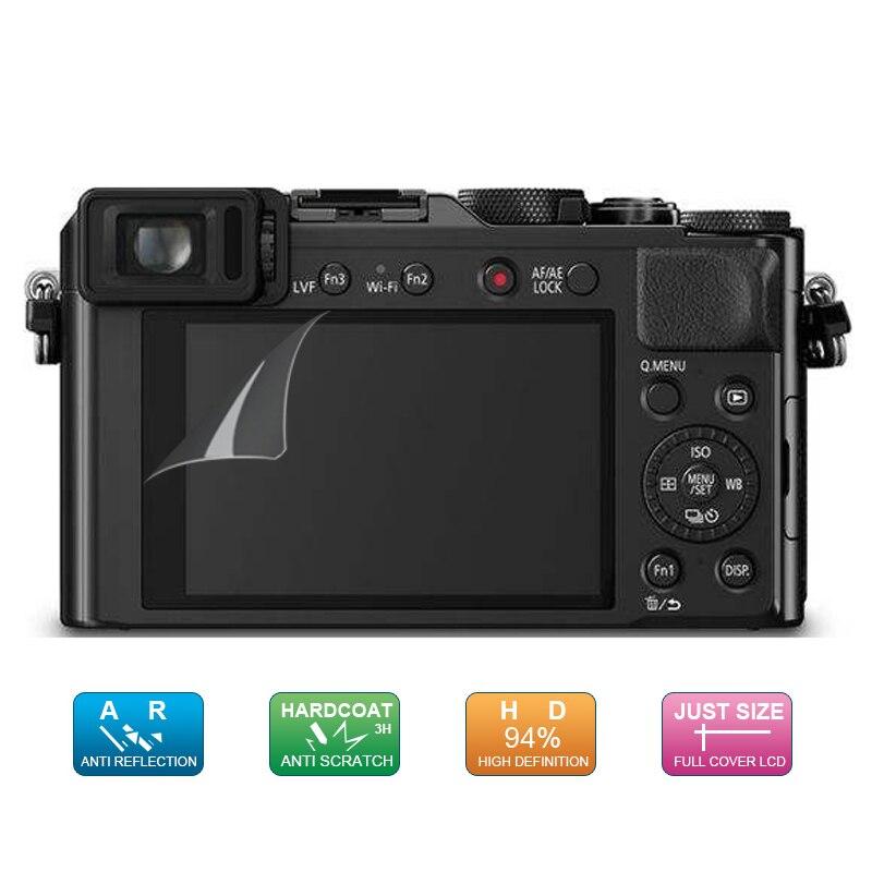 (6 pz, 3 pacco) guard lcd film screen display protector per panasonic lumix dmc-lx100/dmc lx100 gf5 fotocamera digitale