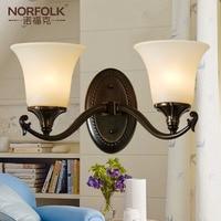 American Pure Copper Wall Lamps Living Room Bedroom Bedside Wall Lamp Headlight Single Head Double Head