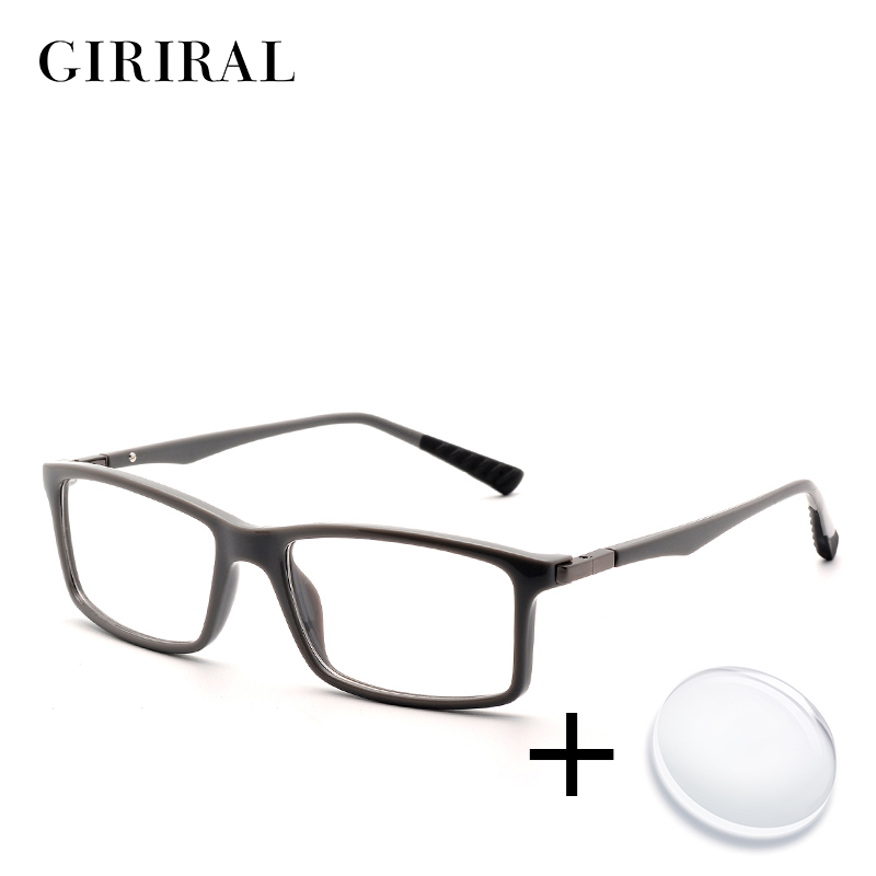 TR90 men prescription glasses retro sight myopia c