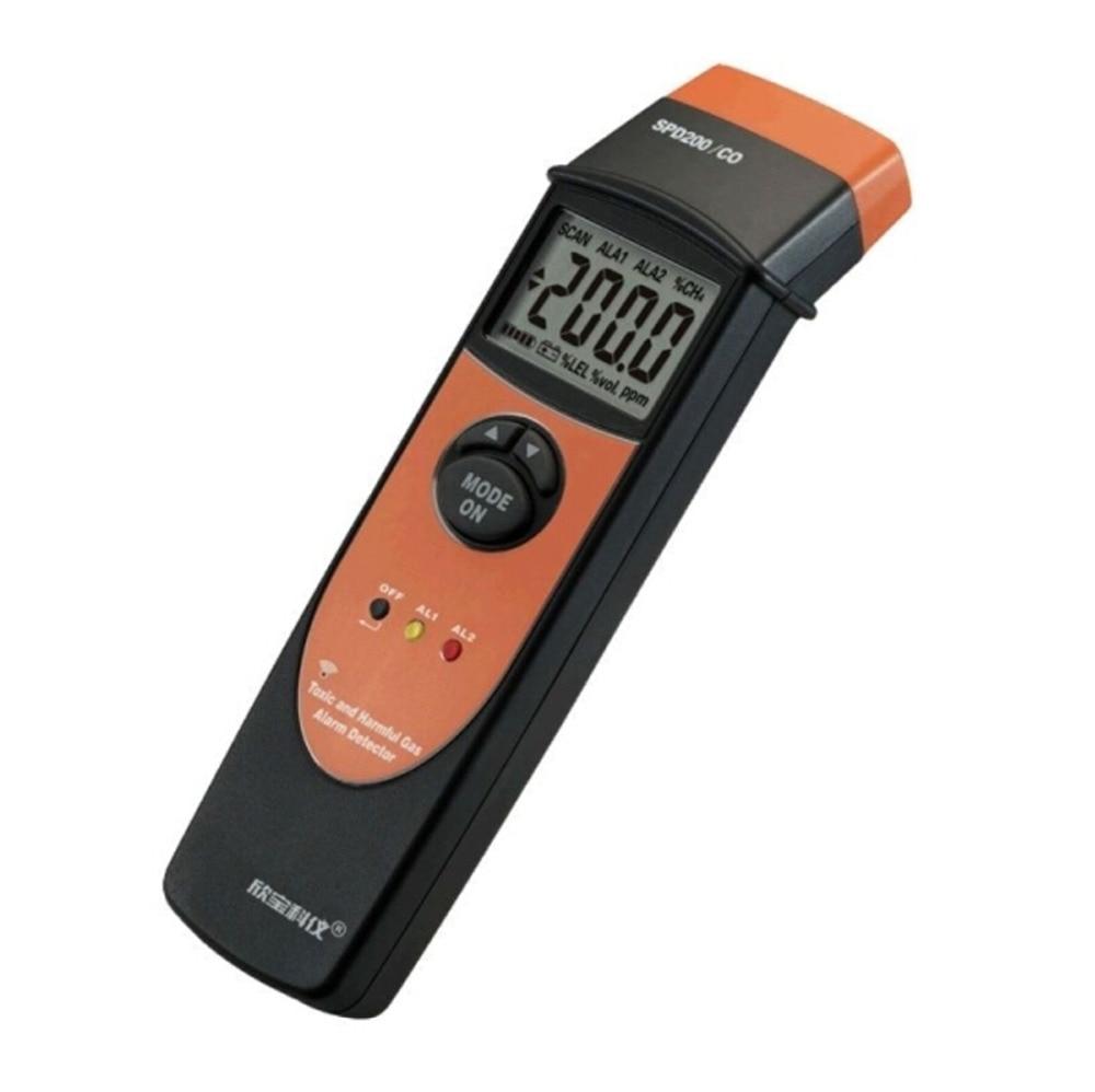 Портативный детектор угарного газа мини сигнализации SPD200 CO Угарный газ метр со монитор газ тестер детектор 0 1000PPM