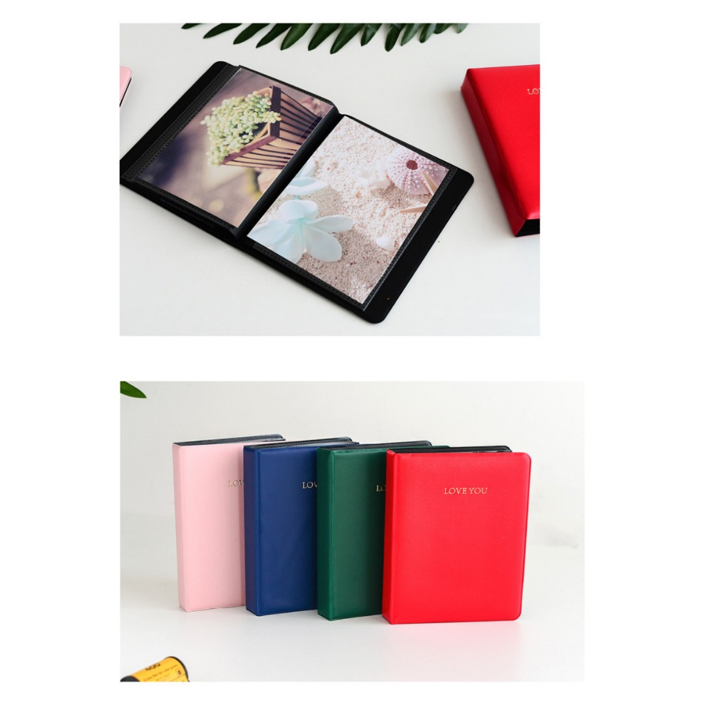 32 Pockets Colorful LOVE You Mini Photo Album Book Picture Case Storage for 5 Inch Photo Instax Wide Film in Camera Video Bags from Consumer Electronics