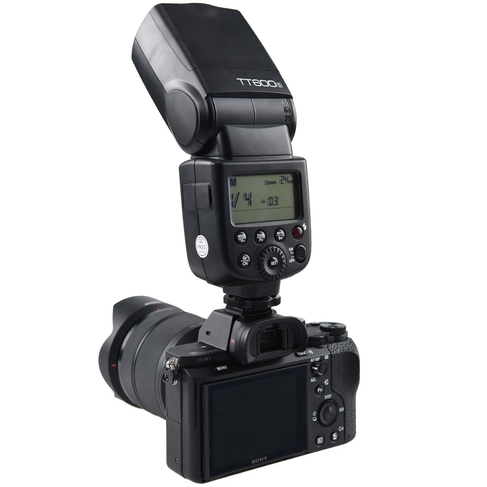 Godox TT600S Flash Speedlite for Sony Multi Interface MI Shoe Cameras A7 A7S A7R A7 II A6300 etc fotga dp500iii uninterrupted v mount bp battery power supply plate for sony a7s a7r a7 ii