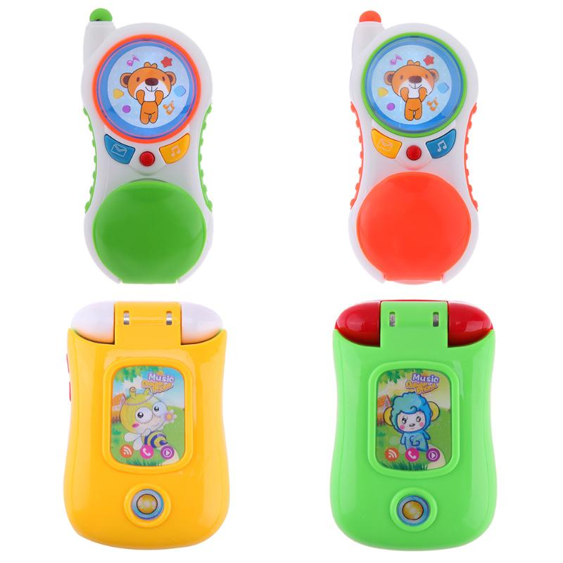 Children Electronic Mobile Phone Baby Electronic Musical Toy Phone with Light Kids Early Educational Learning Toys