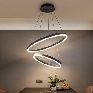 Image 1 - 40 سنتيمتر 100 سنتيمتر خواتم fashional أدى الثريات الحديثة لغرفة الطعام غرفة diy شنقا الإضاءة دائرة خواتم داخلي الإضاءة