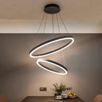 40 CM 100 CM Anillos De Fashional Moderna Lámparas LED Para Living Comedor  DIY Iluminación Colgantes Círculo Anillos Para Iluminación Interior