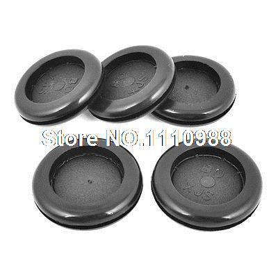5 Pcs Grooved Rubber Blanking Grommet Firewall Bushing 30mm x 35mm