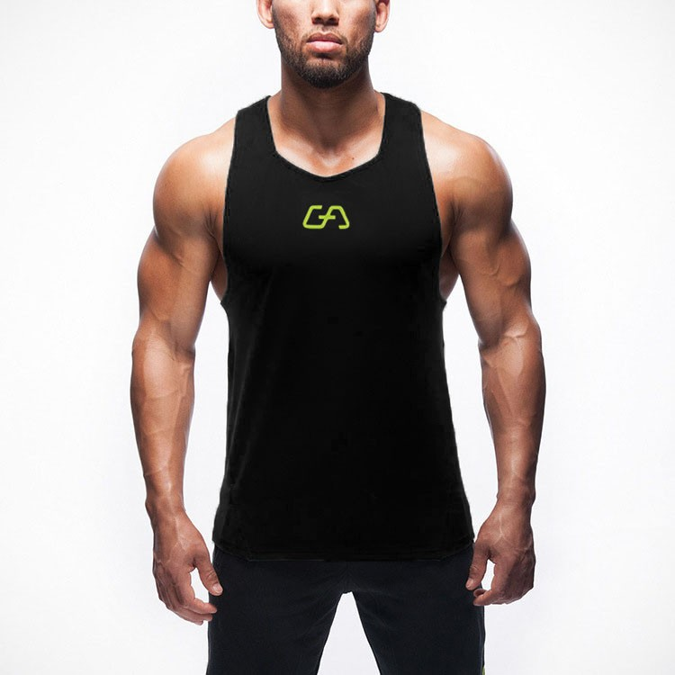 Gym Tank Top Men Sports Fitness Vest Sleeveless Undershirt GymShark Singlet Bodybuilding Stringer Muscle Men\'s Training Vests (8)