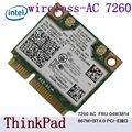 Intel Dual Band Sem Fio-AC 7260 7260HMW 7260AC metade Mini PCI-e + BT4.0 04W3814 Cartão Sem Fio para THINKPAD S440 S540 E540 E440