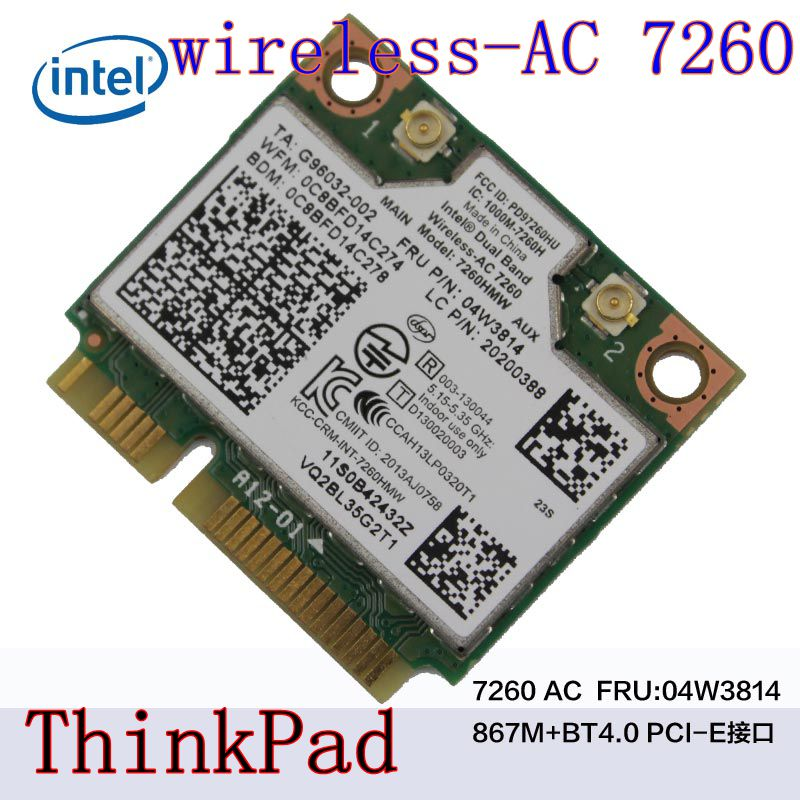 Intel Dual Band Wireless AC 7260 7260HMW 7260AC THINKPADS440 S540 E440 INTEL7260AC Dual Frequency 867M Bluetooth