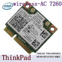 Intel banda dupla sem fio-ac 7260 7260hmw 7260ac thinkpads440 s540 e440 intel7260ac freqüência dupla 867 m bluetooth 4.0fru: 04x6090