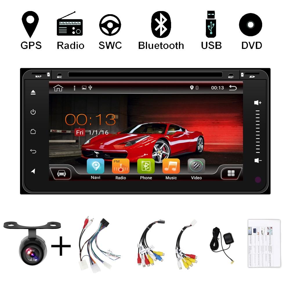 Lecteur DVD Audio de voiture Android 8.1 pour TOYOTA RAV4 2001-2008 COROLLA 2000-2006 gps récepteur d'unité de dispositif de tête multimédia BT WIFI