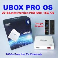 UBOX PRO OS ubox4 ubox5 Bluetooth 2018 Lates ubox 4 Gen android Бесплатная ip ТВ 1000 Live ТВ каналы 4k 1080P HD Новая Зеландия