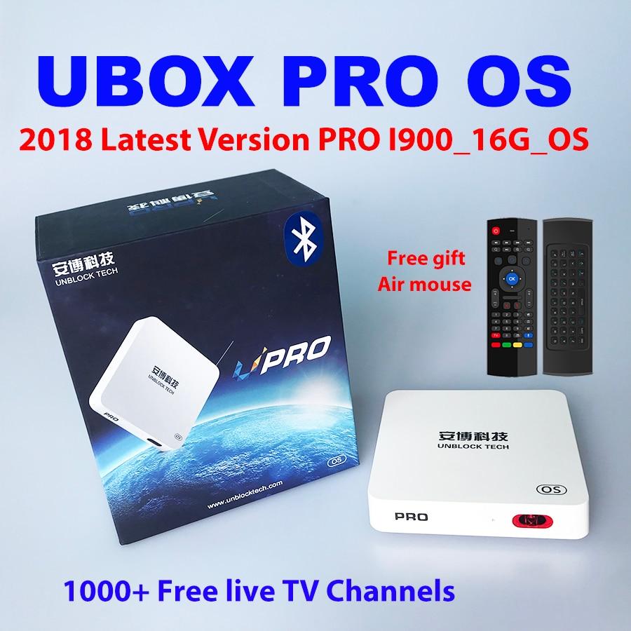 UBOX PRO OS ubox4 ubox5 Bluetooth 2018 Lates ubox 4 Gen android iptv 1000 Chaînes de TÉLÉVISION 4 k 1080 p HD Nouvelle-Zélande