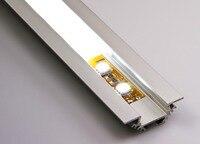 Ângulo de Alumínio anodizado para Montagem Em Esquina LED Habitação Perfil Em Tiras de LED Luzes Bar Com Tampa de Opala Endcap e Suportes De Montagem|Capas e sombras p/ luminárias| |  -