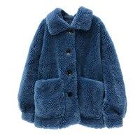 2018 Winter Women's Winter Coat Lambswool mouton Coat Jacket Fur Coat For Woman real fur women's fur coats YH162