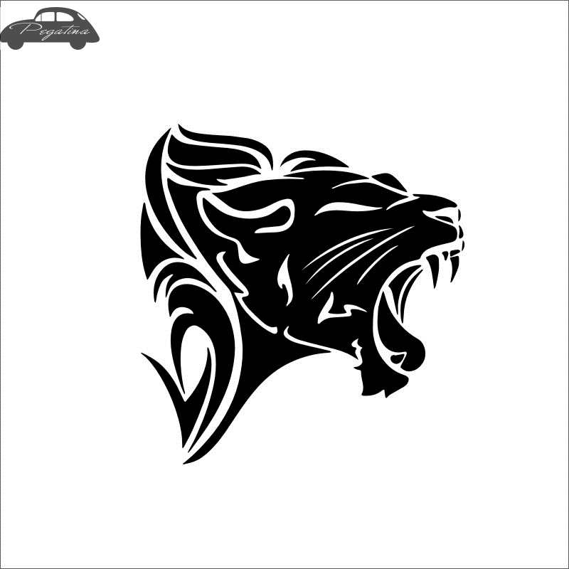Pegatina lion Decal Cougar Car Sticker Car Posters Vinyl Wall Decals Quadro Parede Decor Mural Wild Animal Sticker 719 hot sale 1pc longhorn hilux 900mm graphic vinyl sticker for toyota hilux decals badges detailing sticker car styling accessories