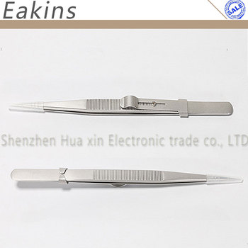 Acero inoxidable de precisión antiestática ESD con pinzas de bloqueo para joyas de diamantes