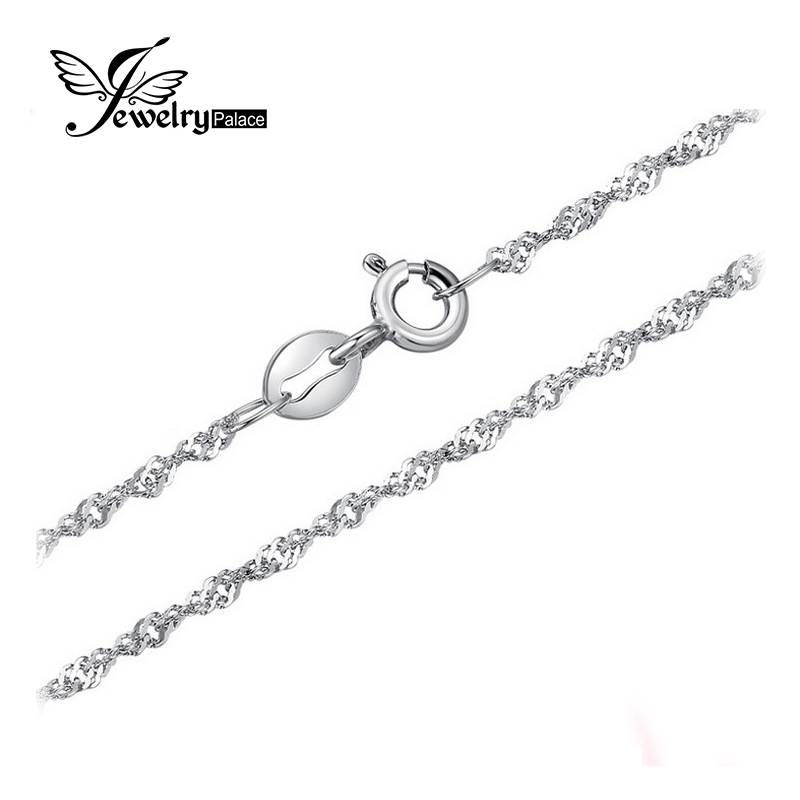 Jewelrypalace New Singapore Rope Chain Necklace Pure 925 Solid Sterling Silver 1.8 2.3mm 40 cm 45 cm Fine Jewelry mxm fan meeting singapore