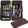 12 unids/set viajes hogar cuidado de las uñas Clipper cortador de la manicura de la cutícula herramienta del caso