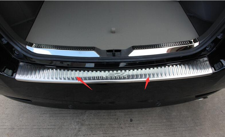 ФОТО free shipping Stainless Steel Rear Bumper Sill Protector Fit For Toyota Verso EZ 2014 2015