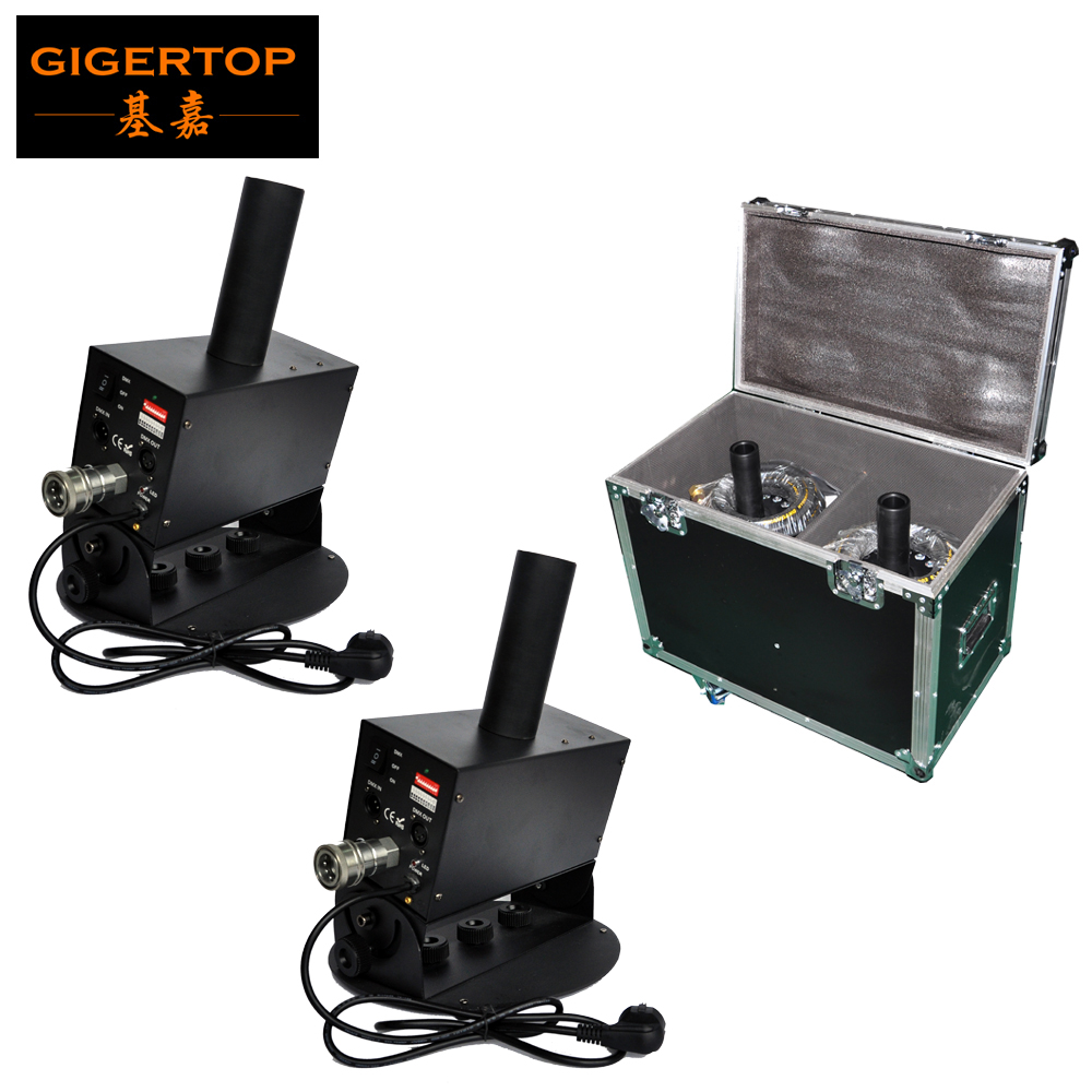TIPTOP Flight Case 2in1 Packing Big Swing Co2 Jet Machine 200W No Led Lamp Strong Carbon Dioxide Projector Easy Angle 100V/220V