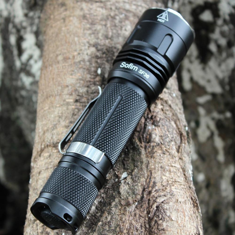 SF36 Tactical LED Flashlight 18650 Cree XPL2 V6 1100 ...