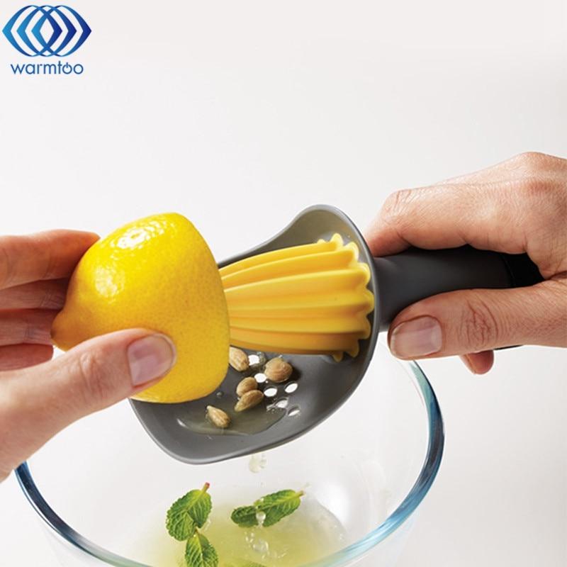 Home Orange Lemon Fruit Juicer Tool Plastic Convenient Squeezer Citrus Juicer Kitchen Cooking Tools