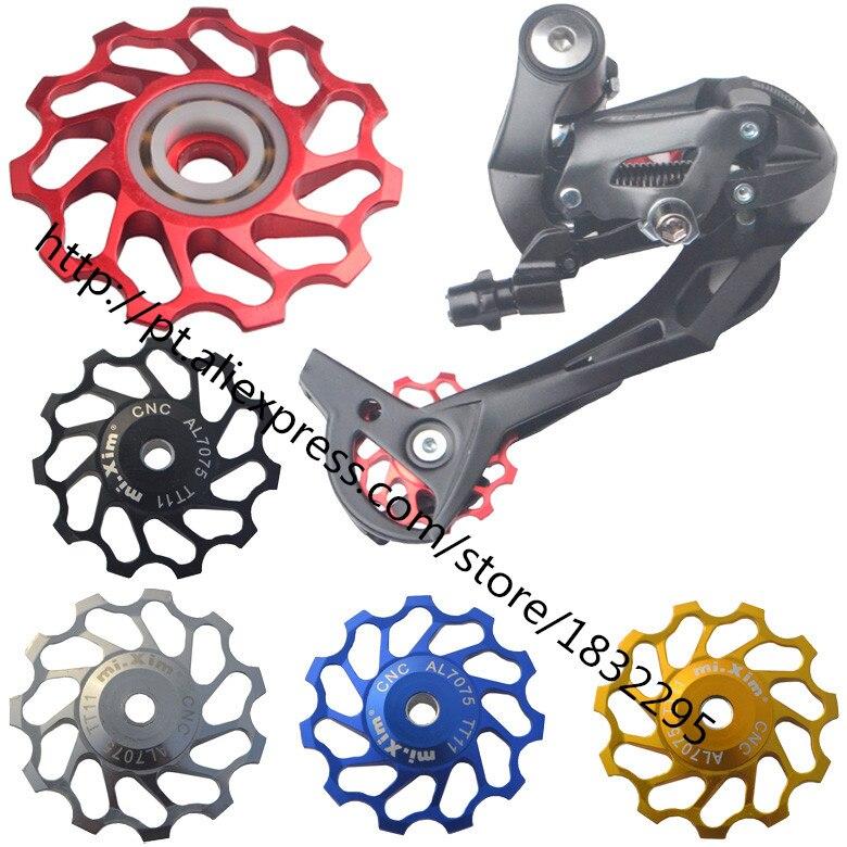 1pcs 11T 13T Alloy Bicycle Rear Derailleur Jockey Wheel Road Mountain Bike Guide font b Roller