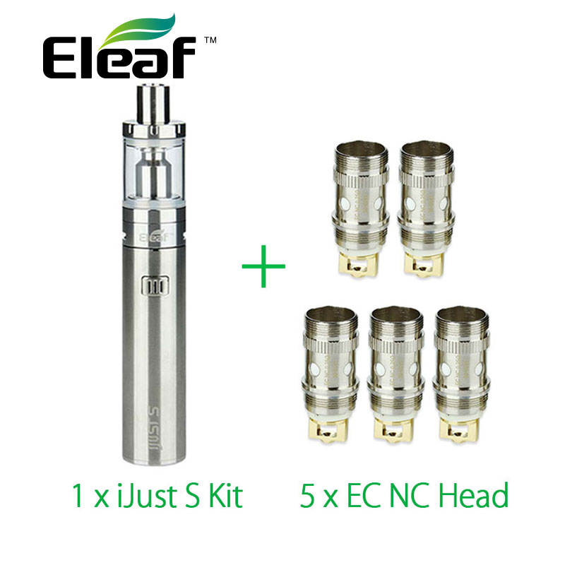 Original Eleaf iJust S Vaping Kit 3000mah with 5pcs Eleaf EC NC Coil ijust s atomizer head vs ijust 2 kit Electronic Cigarette eleaf coral rda atomizer for diy