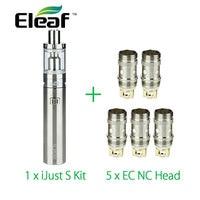 Original Eleaf IJust S Vaping Kit 3000mah With 5pcs Eleaf EC NC Coil Ijust S Atomizer