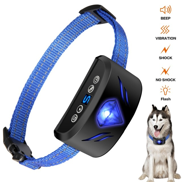 Dog Bark Collar Rechargeable Anti-Barking Training Collar Reflective Dog Collar for Small  Medium Large Dogs Upgraded Flash work