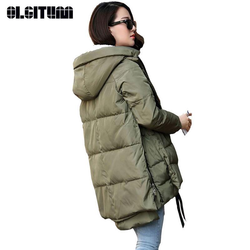 2018 Winter Jacket Women New Fashion Loose Coat Female Hoody Long Plus Size Down   Parka   Jackets For Women CC193