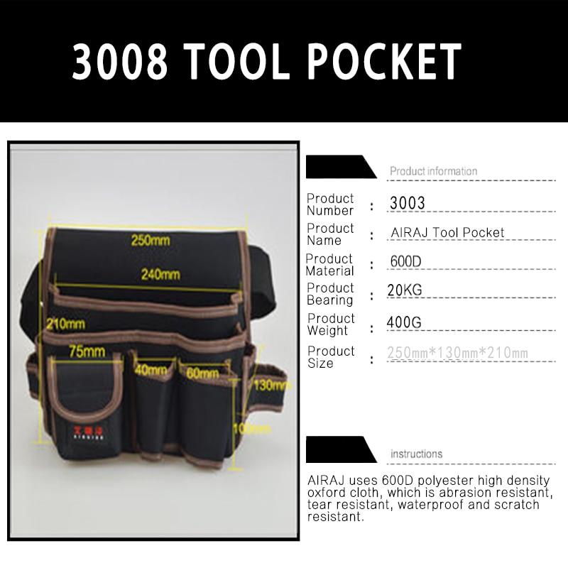 AIRAJ Hardware Bolsa de almacenamiento de herramientas de cintura con - Almacenamiento de herramientas - foto 6