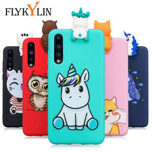 FLYKYLIN Soft Silicon Case For Huawei P30 Lite Case For Huawei P20 Pro P10 Lite Cover on P8 Lite 2017 Capa Cartoon 3D Toys Coque(China)