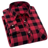 camisa masculina 2019 New Flannel Plaid   Shirt   Men   Shirts   Long Sleeve Chemise Homme Slim Fit Cotton Mens Checkered   Shirts   Casual