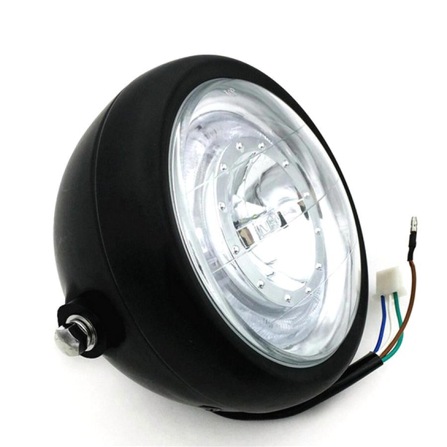 Image 4 - Motorcycle Headlight Cafe Racer Head Light Decorative Lights Modified Motorbiker Vintage Head Light With Bracket