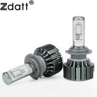 Zdatt 1Pair Super Bright 8 Led H7 Led Lamp Canbus 70W 7200LM Car Led Headlights 12V