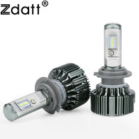 Zdatt 1Pair Super Bright 8 Led H7 Led Lamp Canbus 70W 7200LM Car Led Headlights 12V