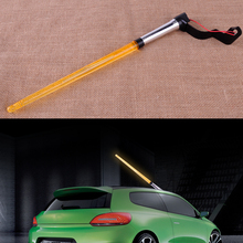 CITALL Auto Car Vehicle DC 12V Flag Pole LED Light Signal AM FM Decorative  Aerial Antenna