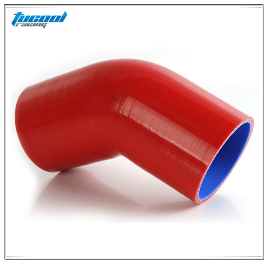 "RED 3.5/"" 89mm 3-ply Silicone Coupler Hose Turbo Intake Intercooler Niss"
