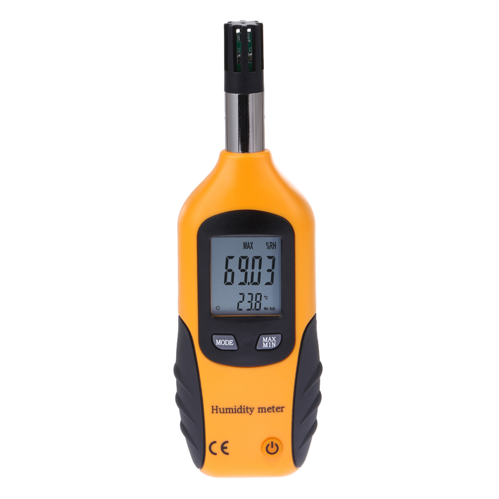 Digital Thermometer Hygrometer Backlight LCD Psychrometer Air Humidity Temperature Meter Dew Point Wet Bulb Moisture Tester