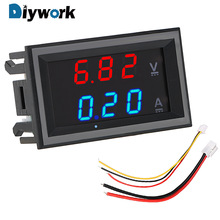 DIYWORK DC 100V 10A Mini Digital Voltmeter Ammeter Amperemeter Voltage Indicator Tester LED Display Volt Ampere Meter with Cable