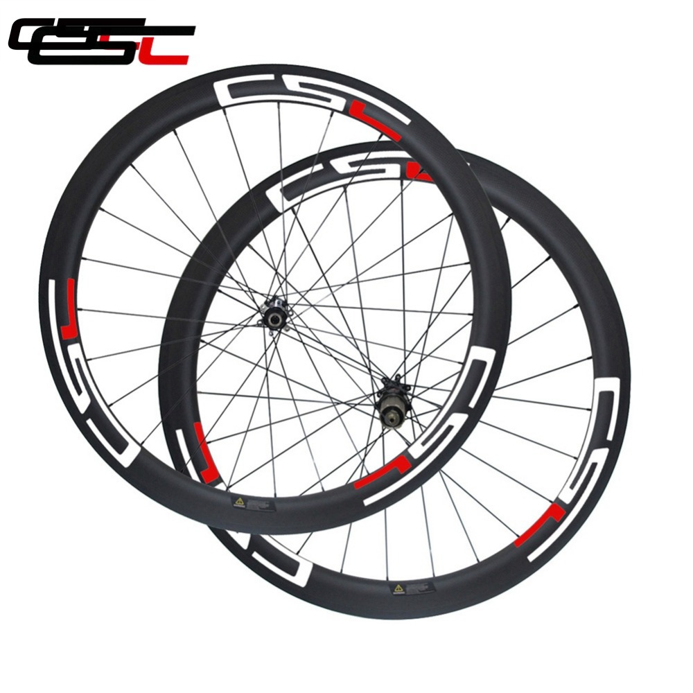 CSC No braking surface D411SB D412SB 6 Bolt Disc brake 700C carbon deep 50mm width 25mm