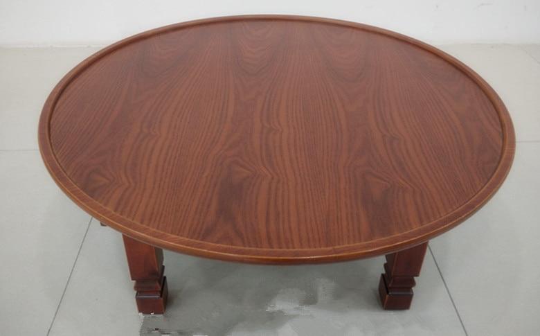 round living room table 90cm folding leg korean antique furniture asian floor table for dinning traditional asian style furniture korean antique style 49