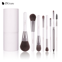 DUcare 8pcs Cosmetics Brush Set Professional Make Up Brushes Top Synthetic Hair Natural Wood Handle With
