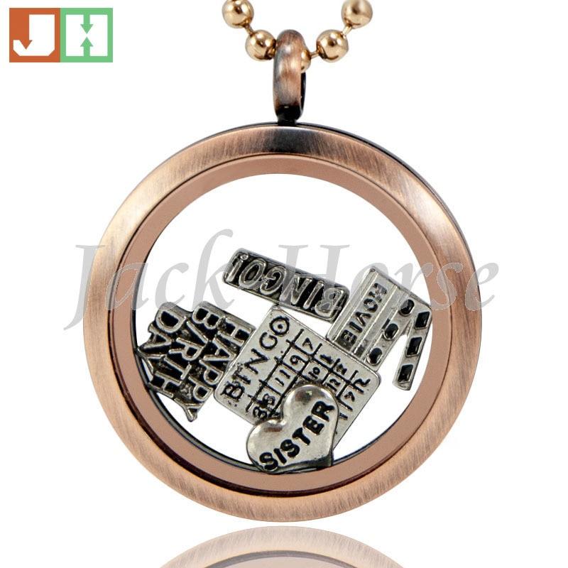 Newest 30mm stainless steel round magnet photo locket necklace vintage locket necklace