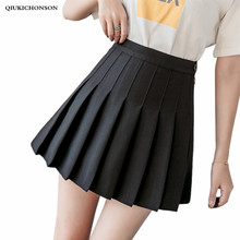 Preppy Style High Waisted Pleated Skirt Women Korean Fashion Mini Skirts jupe tulle